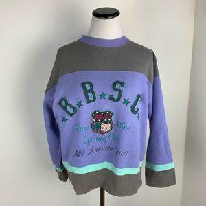 Blanc Bleu French Vintage 1980s Sweatshirt